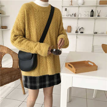 Ailegogo Winter Women Sweater Casual Thickness Warm Female Long Sleeve Loose Fit Pullovers Ladies Knitwear Tops 4