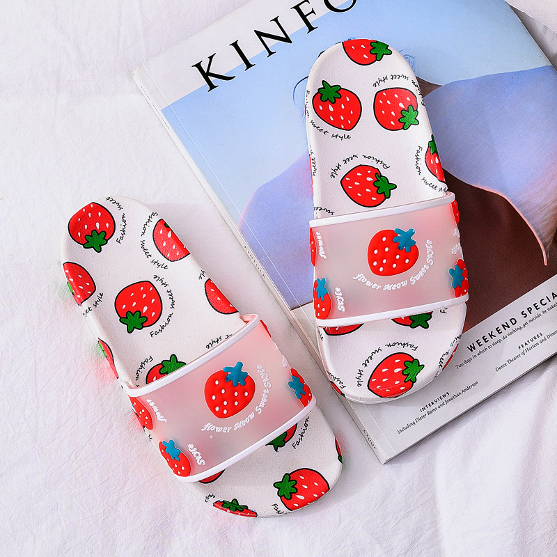 Women Summer Slippers Cartoon Strawberry peach Soft Sole Slides Home Slippers Outdoor Ladies Sandals Women Shoes Flip Flops 5