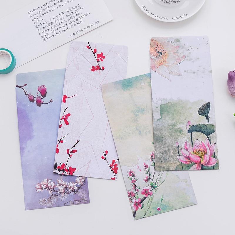 Vintage Chinese Style Paper Envelope Cute Kawaii Kraft Letter Paper Gift Envelopes For Kids Korean Stationery School Supplies