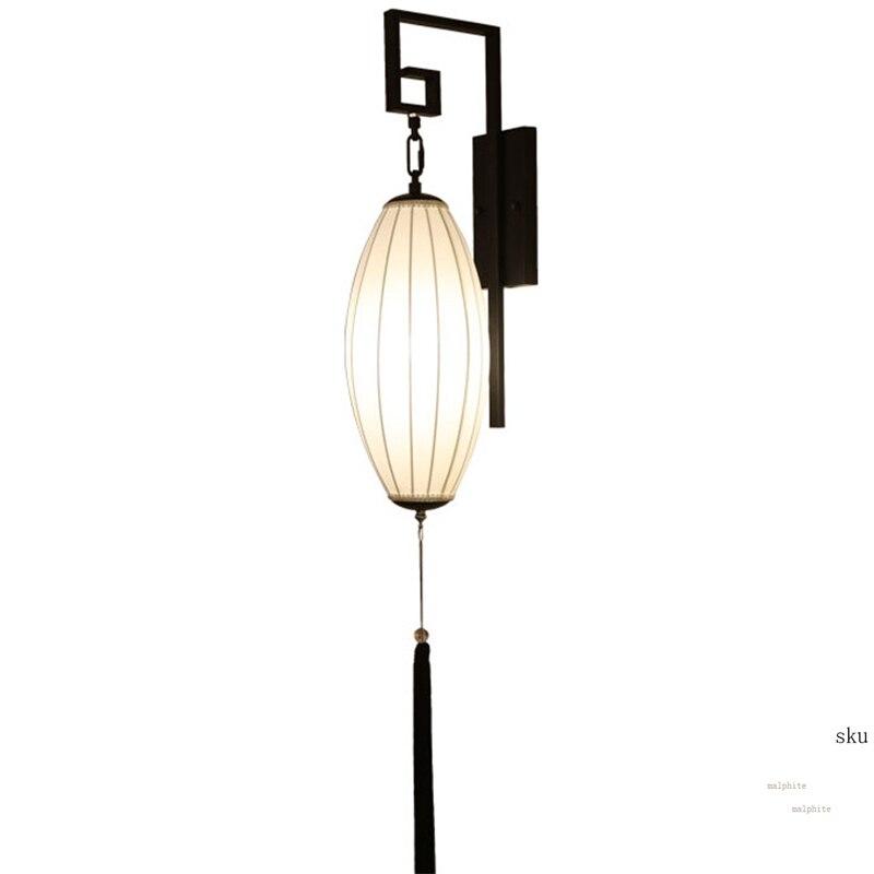 Işıklar ve Aydınlatma'ten LED İç Mekan Duvar Lambaları'de Çin Retro duvar lambası otel koridor banyo duvar lambası koridor oturma odası başucu fikstür ev aydınlatma dekor armatür title=