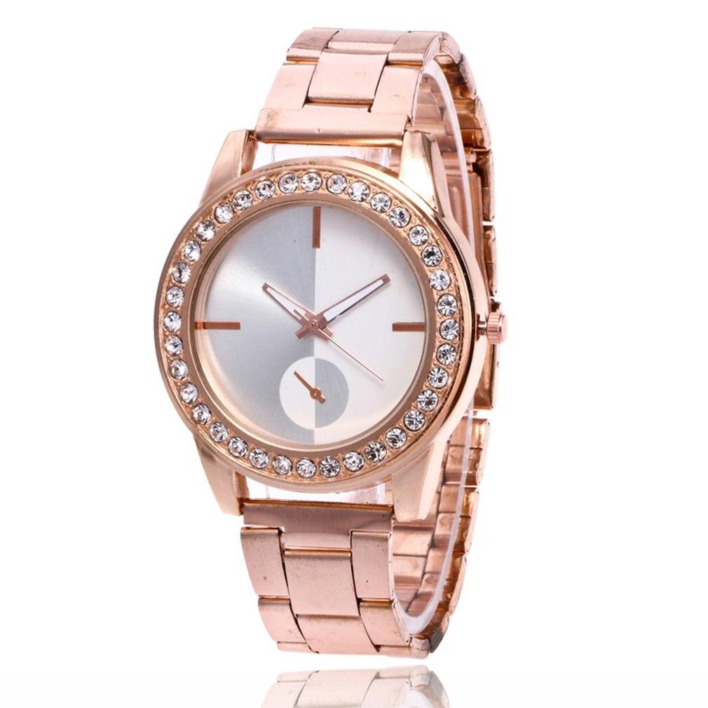 GENBOLI Women's Bracelet Watches Steel Strap Quartz Wristwatches Luxury Ladies Dress Watches Clock Women Business Men