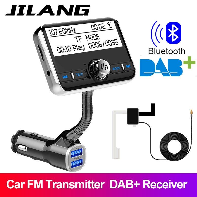 Jilang-Radio numérique DAB + voiture | Dans-Car, avec transmetteur FM, Kit Bluetooth mains libres, numérique Audio diffusion, chargeur USB QC3.0