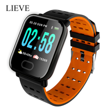 Smart Watch A6 Men Women Heart Rate Monitor Blood Pressure Waterproof Smart Bracelet Smartwatch Clock For IOS Android IOS c5 smart watch mtk2502 heart rate monitor sports clock smartwatch waterproof relogio support sim card for ios android pk amazfit