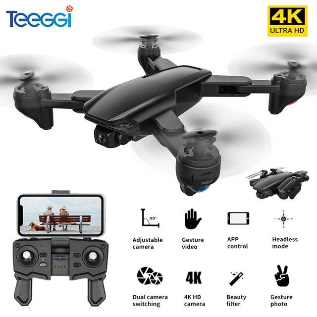 Teeggi SG701 SG701S GPS RC Drone with 5G WiFi FPV 4K HD Camera Quadcopter Optical Flow Foldable Mini Dron VS E520S SG907 F3 S167 1