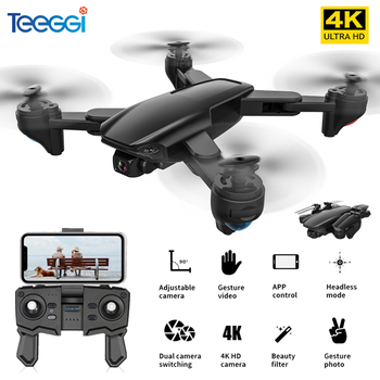 Teeggi SG701 SG701S GPS RC Drone with 5G WiFi FPV 4K HD Camera Quadcopter Optical Flow Foldable Mini Dron VS E520S SG907 F3 S167