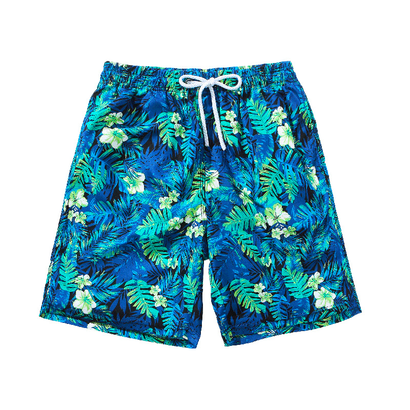 Quick-Drying Seaside Holiday Beach Shorts Men's Large Size Loose-Fit Couples Short AussieBum Summer Flowers Shorts Women's Trunk