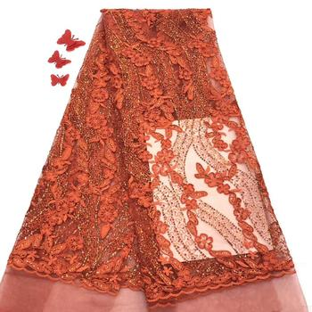 Madison Latest Nigerian Lace Fabric for Women Dress Latest African Tulle Mesh Lace Bridal Fabric with Sequins