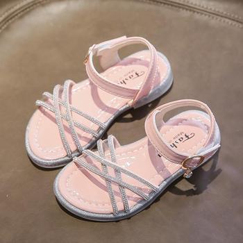 Kids Girl Sandals Leather Summer Shoes Princess Cute Soft sandals designer summer For new