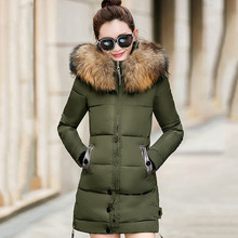 Winter Jacket Women 2019 New Arrival Fashion Slim Cotton Padded Parka Warm Thicken Plus Size 4XL Long Ladies Coats Clothing