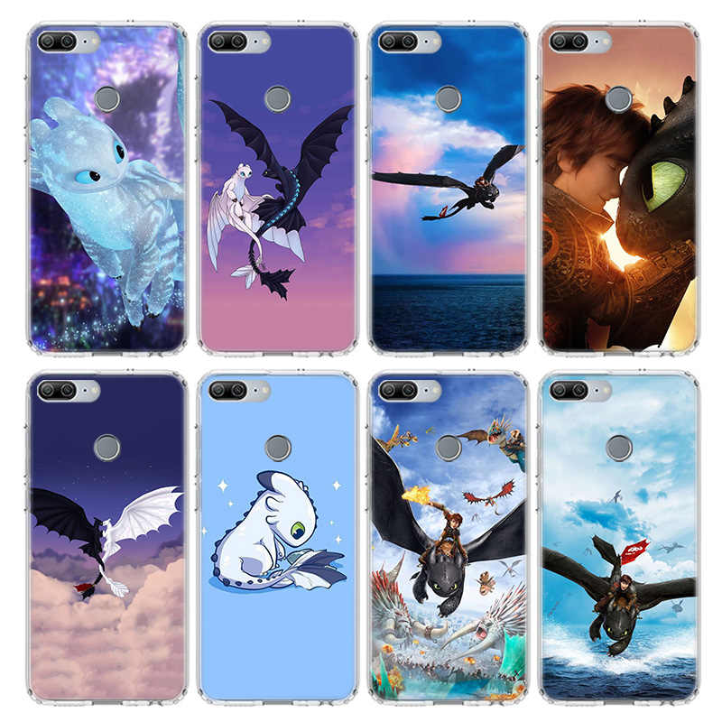 Sdentato How To Train Your Dragon Per Il Caso di Huawei Honor 10 9 20 Lite Pro 9X 8X 8A 8C 7S 7A 7C Y5 Y6 Y7 Y9 2019 Molle Della Copertura Del Telefono