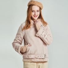 Новое поступление, зимняя женская короткая куртка из искусственного меха кролика, полиэстер, одноцветное пальто W5245