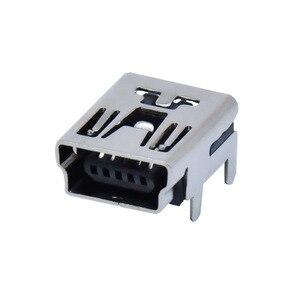 "Image 2 - 10Pcs מיני USB סוג B 5 פינים שקע נקבה אנכי/אופקי מח""ש שקע מחבר עבור זנב טעינה"