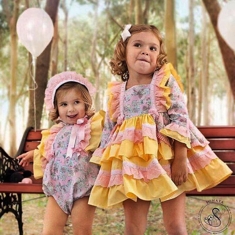 Nouveauté espagnole lapin Lolita filles coton robe princesse robes robe de bal pour les filles enfants fête anniversaire vêtements G063