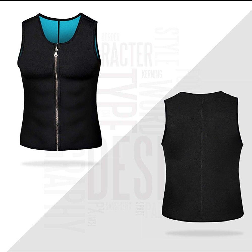 running - Men Waist Trainer Vest Neoprene Body Shaper Zipper Tank Top Workout Slimming Vset for Running Riding Gym Fitness