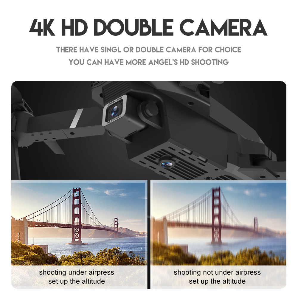 Drone Mini E525 Pro HD 4K 1080P Camera Obstacle Avoidance WiFi FPV Maintaining RC Foldable 3-Sided Drone 4k Profesional Kid 6