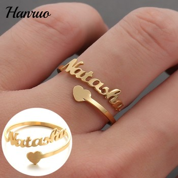 mensazone new family have 2 children ring aaa cz stone gold color can rotate 316 l stainless steel rings jewelry for women men Custom Name Ring Personalized Nameplate Rings Stainless steel Gold Silver Color Ring For Women Men Couple Gifts Fashion Jewelry