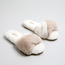 2019 Fashion Fur Slides Women Slippers Winter Fluffy House Female Shoes Home Indoor Casual Office slippers