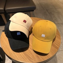 In the summer of 2021 new ins hat female fashion контракт M буквы вышивка бейсболка кепка мужская han edition кепка джокер изогнутая