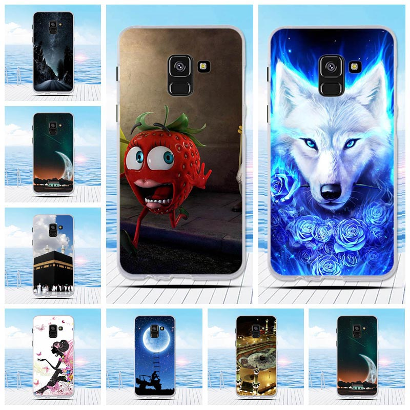 Cute Painted Soft Silicone TPU Cases For Coque <font><b>Samsung</b></font> Galaxy A5 2016 A510F A8 2018 <font><b>A530F</b></font> Phone <font><b>Cover</b></font> Case for A5 2017 A520F image