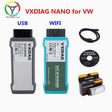 Vxdiag Nano Voor Vw Diagnostic Tool Odis V5.1.3/ V5.1.6 Vervangen 5054A/ 6154 Oki Auto Scanner Wifi Usb Aansluiting optionele