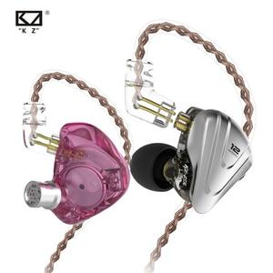 Image 3 - KZ ZSX Терминатор металлическая гарнитура 5BA + 1DD Гибридный 12 единиц HIFI бас наушники в ухо монитор наушники с шумоподавлением KZ