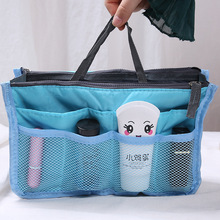 Women's cosmetics storage bag travel portable double zipper multi-function cosmetics insert wallet storage bag