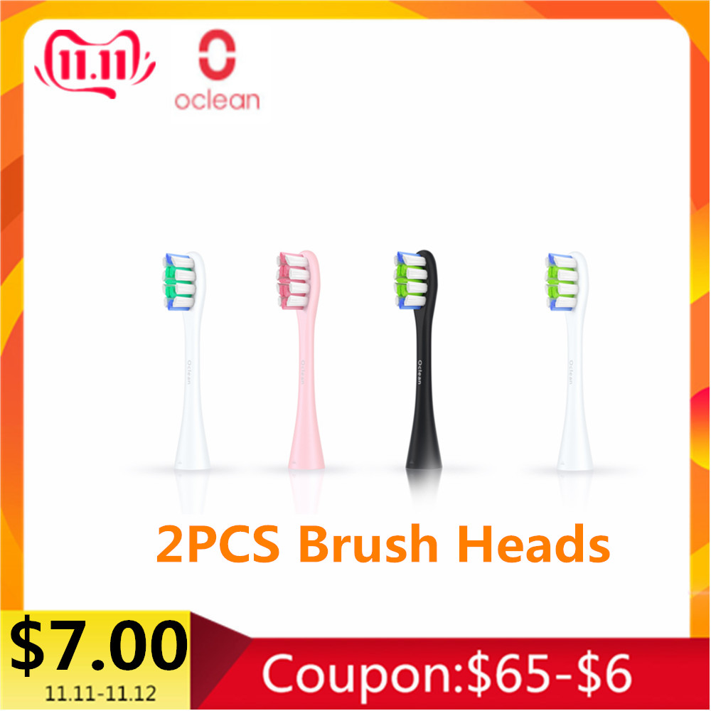 Original XIAOMI 2PCS Oclean SE / One Replacement Brush Heads Standard For Electric Toothbrush Oral Hygiene