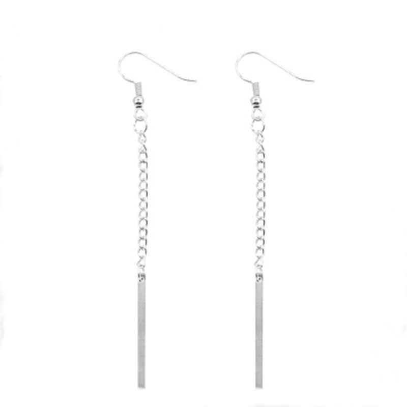Einfache Anhänger Tropfen Ohrringe Quaste 2019 Mode Ohrringe Pendientes Mujer Kette Lange Ohrring Für Frauen Erklärung Schmuck WD377