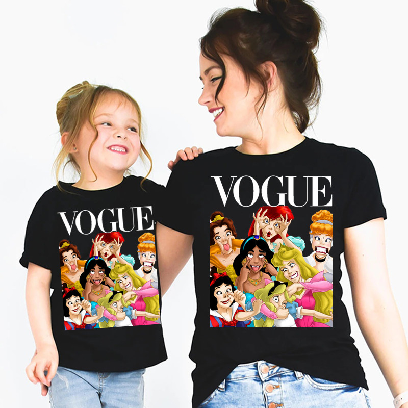 Mommy And Me Princess Vogue T Shirt Mother Daughter Matching Family Outfits T-shirt Christmas Motherday's Day Gift