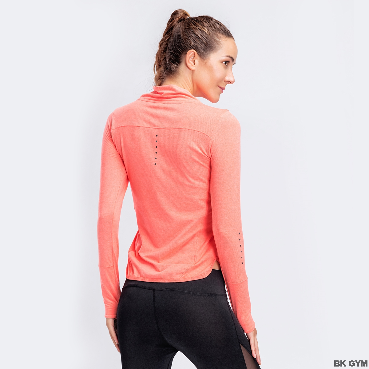 manga longa treino fitness correndo esporte t-shirts treinamento yoga outono