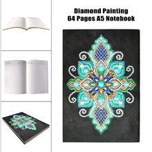 EverShine 5D DIY Diamond Painting Notebook Special Shaped Embroidery A5 Diary Book 60 Pages Mosaic Mandala Diamonds Art