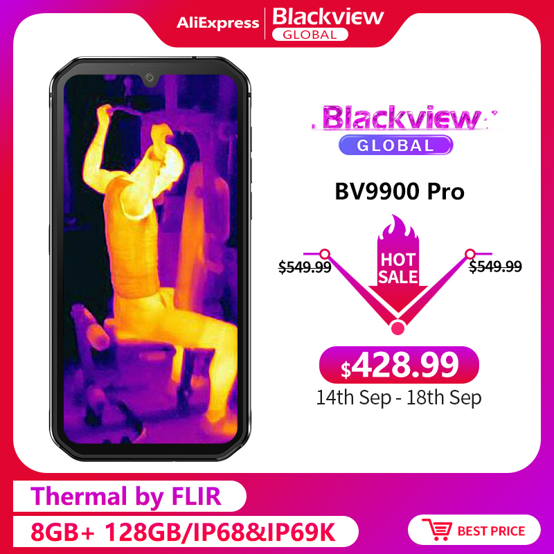 Blackview BV9900 Pro Thermal Camera Smartphone IP68 Waterproof 8GB 128GB Helio P90 Octa Core Rugged Quad Camera Mobile Phone(China)