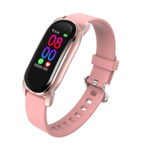 цена на YD8 Smart Bracelet Blood Pressure Heart Rate Temperature Fitness Tracker Sport Wristband Watch For IOS Android