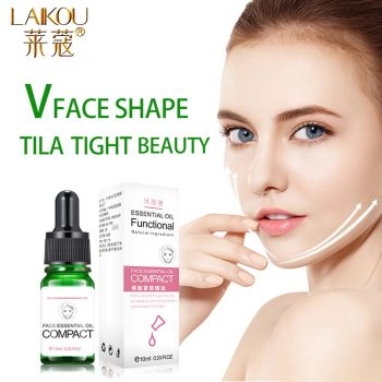 LAIKOU 10ML Delicate Facial Thin Face Essential Oils Skin Care Lavender Oil Belt Shape And Lift Reduce Double Chin Massage Oil lumene sisu recover and protect facial oil