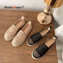 Loafers Shoes Slip-On Mixed-Colors Leisure Genuine-Leather Women Popular Fisherman Cozy
