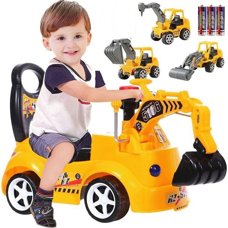 Baby Balance Taxi Car Learn To Walk Get Balance Sense Riding Toys For Kids Baby Toddler Child Excavator