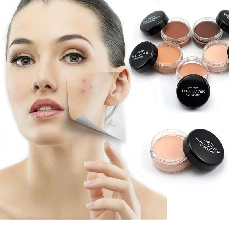 Popfeel Menyembunyikan Noda Full Cover Concealer Krim Make Up Wajah Bibir Mata Pori-pori Foundation Wajah Concealer Cream Makeup Grosir