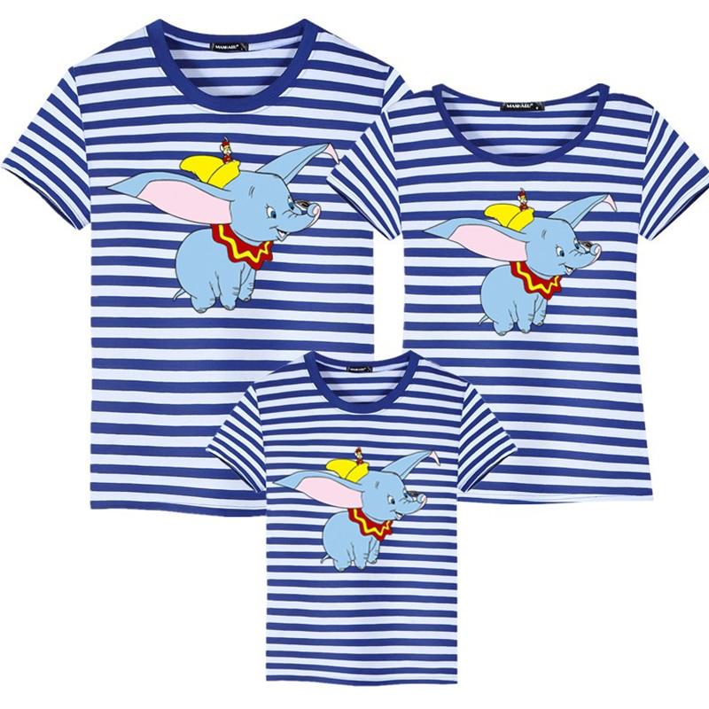 Одинаковая одежда для семьи, футболка с героями мультфильмов Дамбо, хлопковые рубашки для Отца и Сына, одежда для девочек, одежда для детей и...