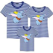 T-shirt de Famille en coton, vêtements assortis avec dessin animé Dumbo, pour père et fils, pour Maman et Fille, pour enfants