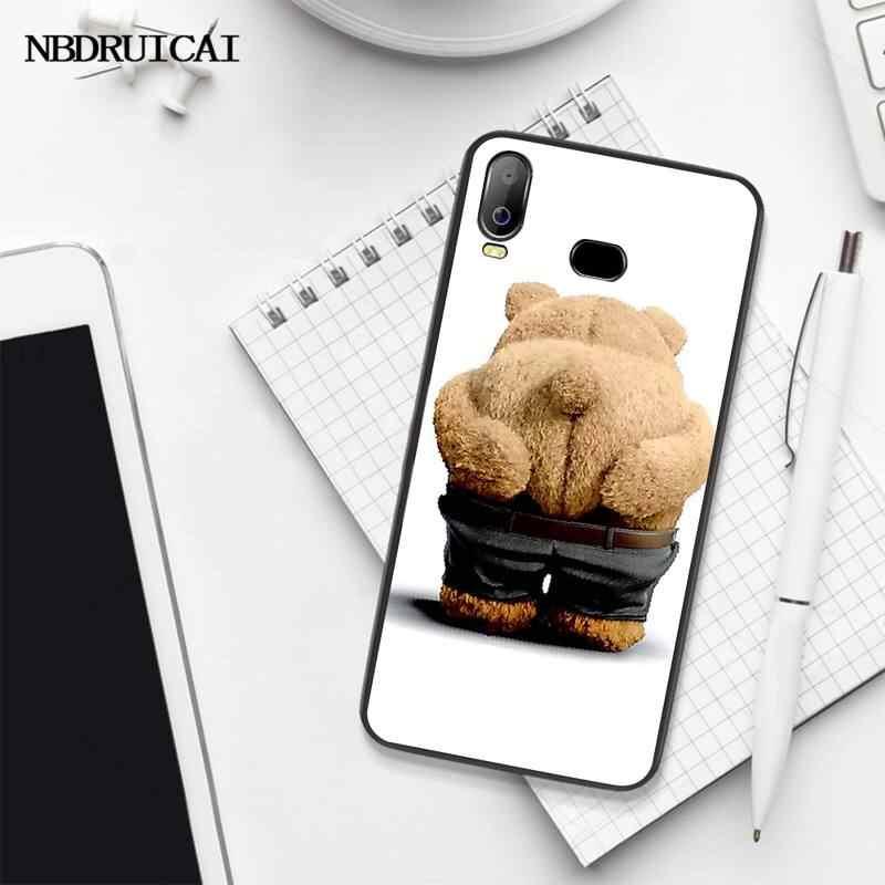 NBDRUICAI Ted Orso Movie Ted Bacio IL MIO Culo Culo Nero Soft Shell Cassa Del Telefono Per Samsung A10 A20 A30 A40 a50 A70 A71 A51 A6 A8 2018
