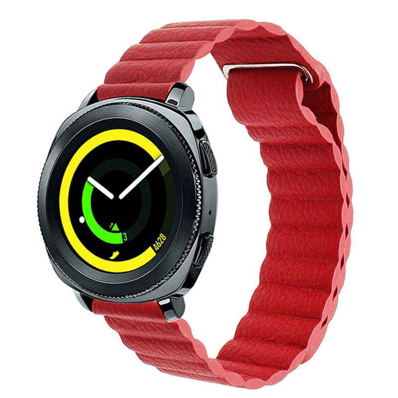 Milanese Loop Leather <font><b>Watchband</b></font> 22mm <font><b>20mm</b></font> for Samsung Galaxy Watch 46mm 42mm Active 2 40mm 44mm Magnet Band Quick Release Strap image