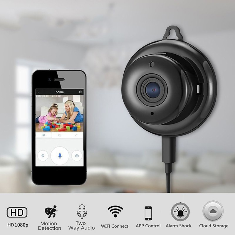 1080P IP Baby Monitor Camera With Night Vision CCTV Cam For Your Child Safety 7