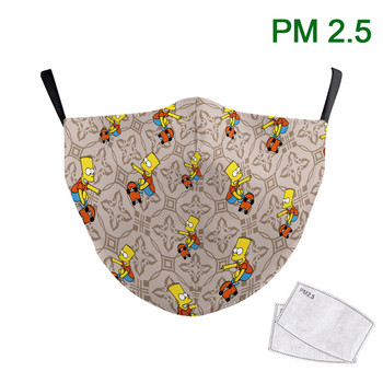 Cartoon Print Face Masks Washable Adult Reusable Face Mask PM 2.5 Protective Dust Cosplay Mouth Cover 3D Mouth-Muffle Fabric