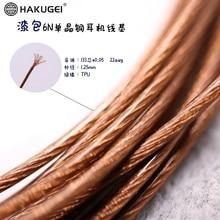Litz TPU 6N SINGLE Crystal copper Wire Core 133 Core OD: 1.25 มม.22AWG 6 เมตร