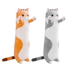 50/70/90cm Long Strip Cute Cat Plush Doll Stuffed Animal Soft Cuddly Toy Pillow L9CD