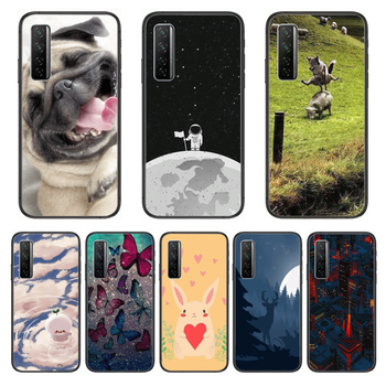 Shockproof Fashion Phone Case For Huawei Nova p10 lite 7 6 5 4 3 Pro i p Smart ZBlack Etui 3D Coque Painting Hoesje image