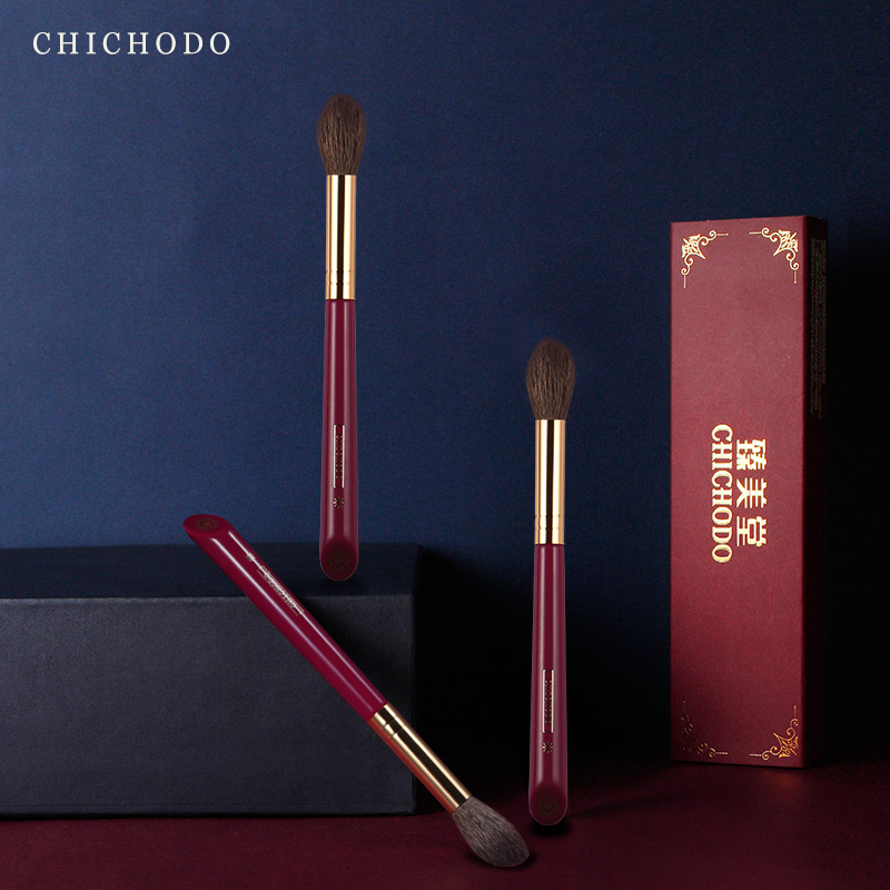 CHICHODO makeup brush-Luxurious Red Rose series-high quality goat hair highlight brush-cosmetic tool-make up brush-beauty pen
