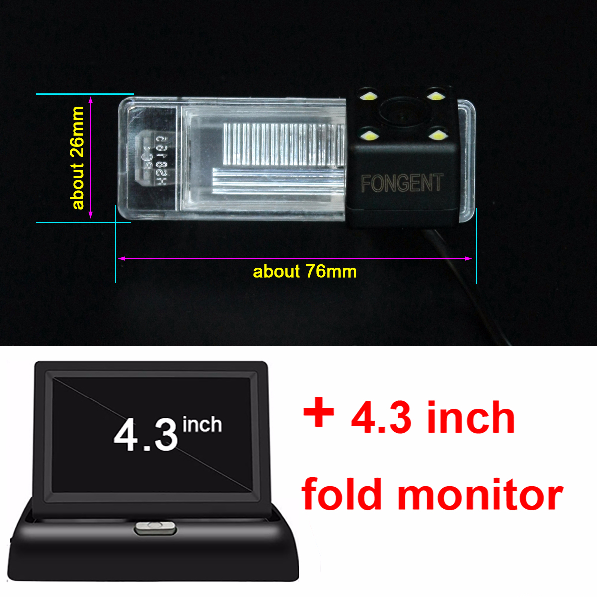 For Nissan X Trail X-Trail Qashqai Juke Sunny Versa NV200 March Car CCD LED Backup Reverse Rear View Camera Car Parking Monitor enlarge