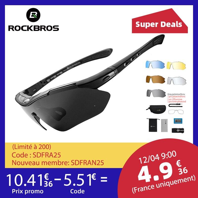ROCKBROS Polarized Sports uomo occhiali da sole occhiali da ciclismo su strada Mountain Bike bicicletta protezione occhiali occhiali 5 lenti 1