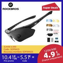 RockBros-Gafas de sol polarizadas de ciclismo, gafas para bicicleta de montaña y carrera, 5 lentes de protección, para hombre